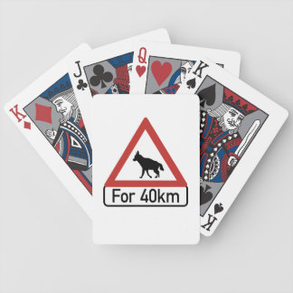 Caution Hyenas 2, Traffic Warning Sign, Namibia Bicycle Playing Cards
