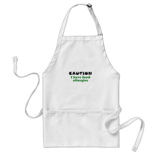 Caution I Have Food Allergies Standard Apron