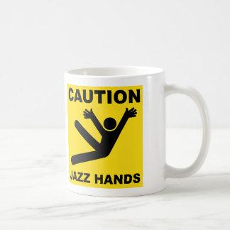 Caution Jazz Hands mug