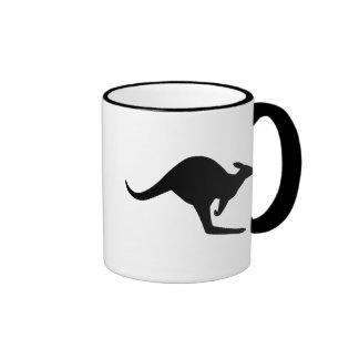 Caution Kangaroo Ringer Mug