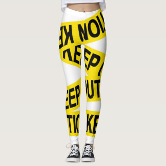 Caution Keep Out Tape Leggings