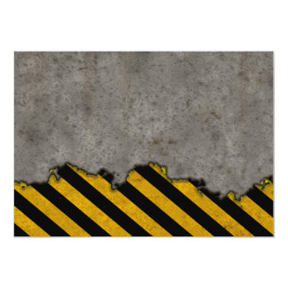 Caution Line Splatter Card