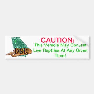 Caution Live Snakes Bumper Sticker