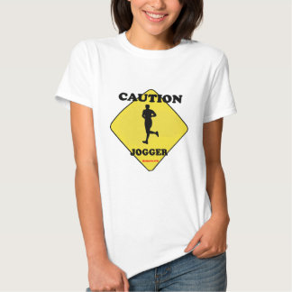 Caution_Male_Jogger. Tee Shirt