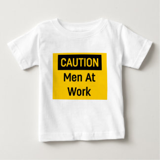 CAUTION Men at Work Baby T-Shirt