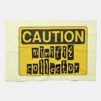 CAUTION MINIFIG COLLECTOR by Customise My Minifig Kitchen Towel