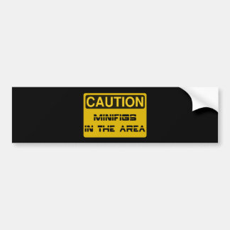 CAUTION MINIFIGS IN THE AREA by Chillee Wilson Bumper Stickers