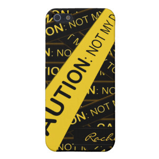 Caution Not My Day to Care iPhone4 Cover For iPhone 5/5S
