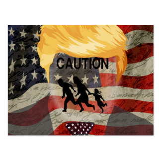 Caution Postcard