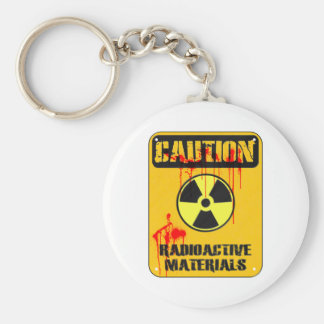 Caution Radioactive Material Keychains