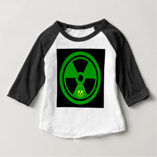 Caution Radioactive Sign With Skull Baby T-Shirt