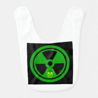 Caution Radioactive Sign With Skull Bib