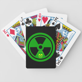 Caution Radioactive Sign With Skull Bicycle Playing Cards