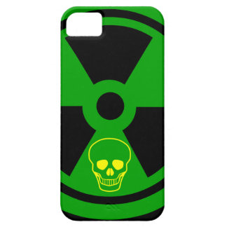 Caution Radioactive Sign With Skull iPhone 5 Cover