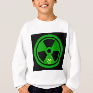 Caution Radioactive Sign With Skull Sweatshirt