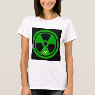 Caution Radioactive Sign With Skull T-Shirt