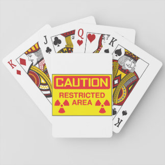 Caution Restricted Area Playing Cards