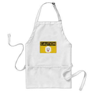 CAUTION: RUDE MINIFIG HEAD by Customize My Minifig Apron