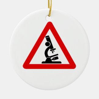 Caution:  SCIENCE! Ceramic Ornament