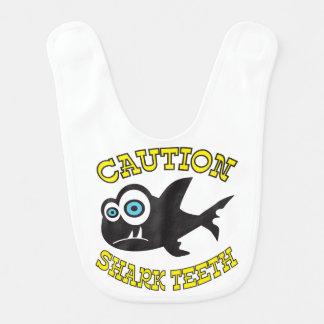 Caution! Shark Teeth! Baby Bib