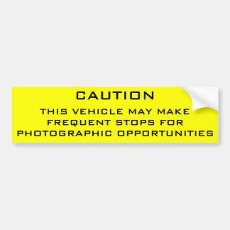 Caution Shutterbug Bumper Sticker