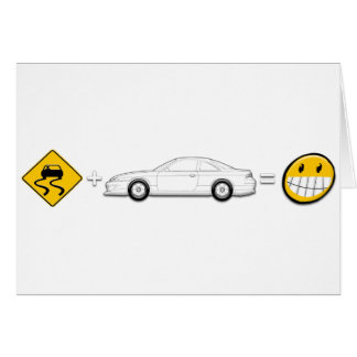 Caution Sign, Drift Silvia S14 is fun Greeting Card