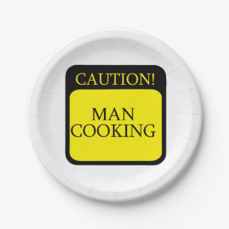 Caution sign for Custom Paper Plates