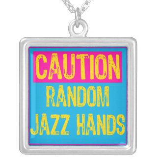Caution Sign- Random Jazz Hands POP Pink Blue yell Custom Jewelry