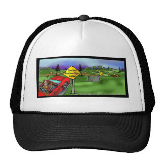 Caution Signs Funny Gifts Tees & Collectibles Trucker Hat