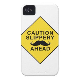 Caution Slippery Mustache iPhone 4 Case