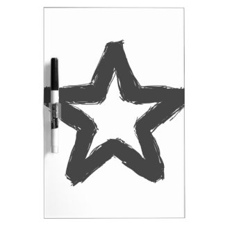 Caution star ahead! dry erase board