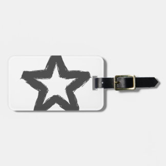 Caution star ahead! luggage tag