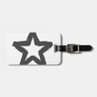 Caution star ahead! luggage tag