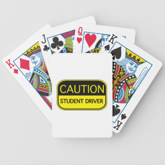 Caution Student Driver Poker Deck