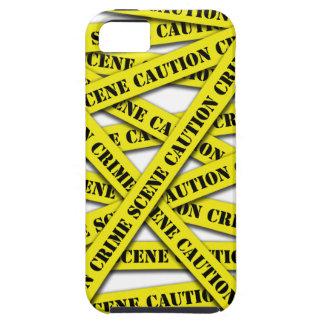 Caution Tape Cover Tough iPhone 5 Case