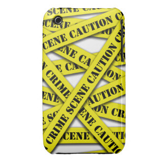 Caution Tape Cover iPhone 3 Case-Mate Cases