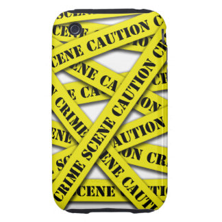 Caution Tape Cover Tough iPhone 3 Cover