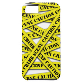 Caution Tape Cover Tough iPhone 5 Case