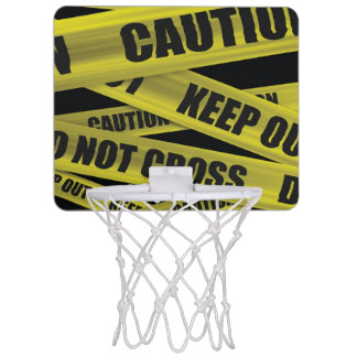 Caution Tape Mini Basketball Hoop