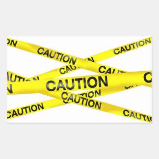 Caution Tape Rectangular Stickers