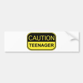 Caution Teenager Bumper Sticker