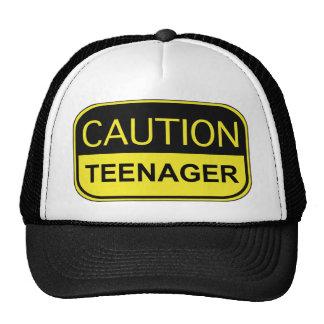 Caution Teenager Trucker Hat