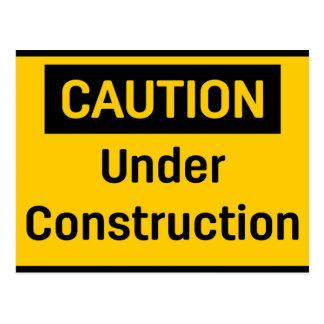 CAUTION Under Construction Postcard