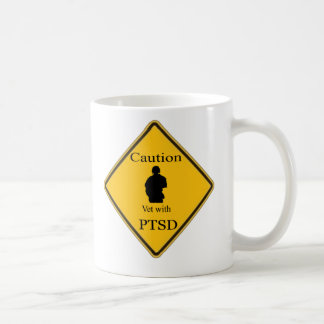 Caution Vet With PTSD Coffee Cup
