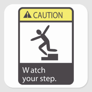 Caution Watch Your Step Stickers