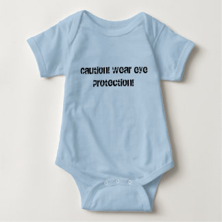Caution! Wear eye protection baby clothes Baby Bodysuit