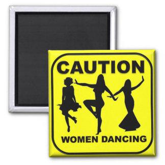 Caution Women Dancing Magnet