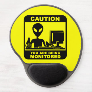 Caution! you are being monitored gel mouse pad
