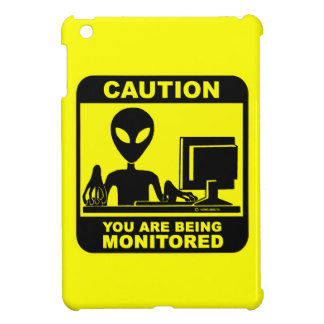 Caution! you are being monitored iPad mini covers