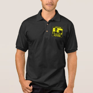 Caution! you are being monitored polo shirt